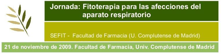 Jornada: Fitoterapia en el tratamiento de las afecciones respiratorias