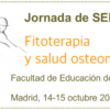 Presentaciones de la Jornada de Fitoterapia y salud osteomuscular, Madrid, 14-15 de octubre de 2016
