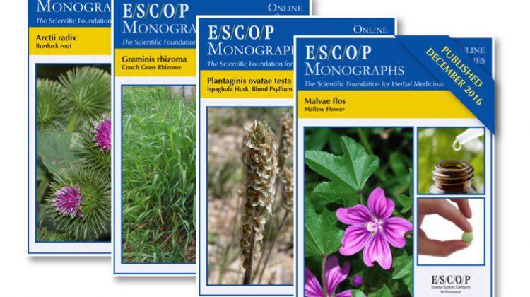 Nuevas monografías online de ESCOP